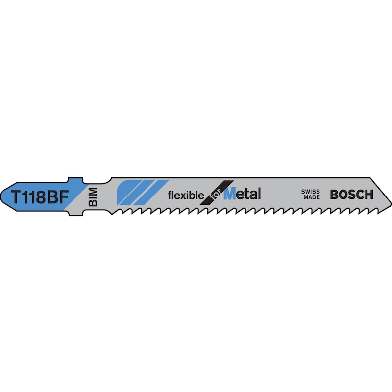 2 608 634 503 Bosch 2608634503 Jigsaw Blade T 118 Bf Flexible For Metal Pack of 5