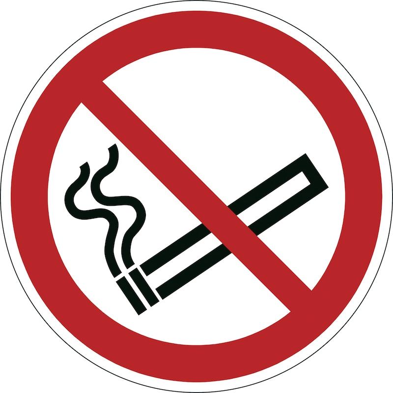 Selbstklebendes Sicherheitskennzeichen Durchmesser 430 mm Rauchen verboten - Registriertes Sicherheitskennzeichen  OUTLET