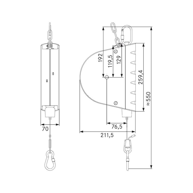Balance à ressort AUTOSTAT type 7222/4, cap charge 10,0-14,0 kg, antirouille - Balances à ressort avec capacité de charge 2,0-14,0kg, avec verrouillage automatique