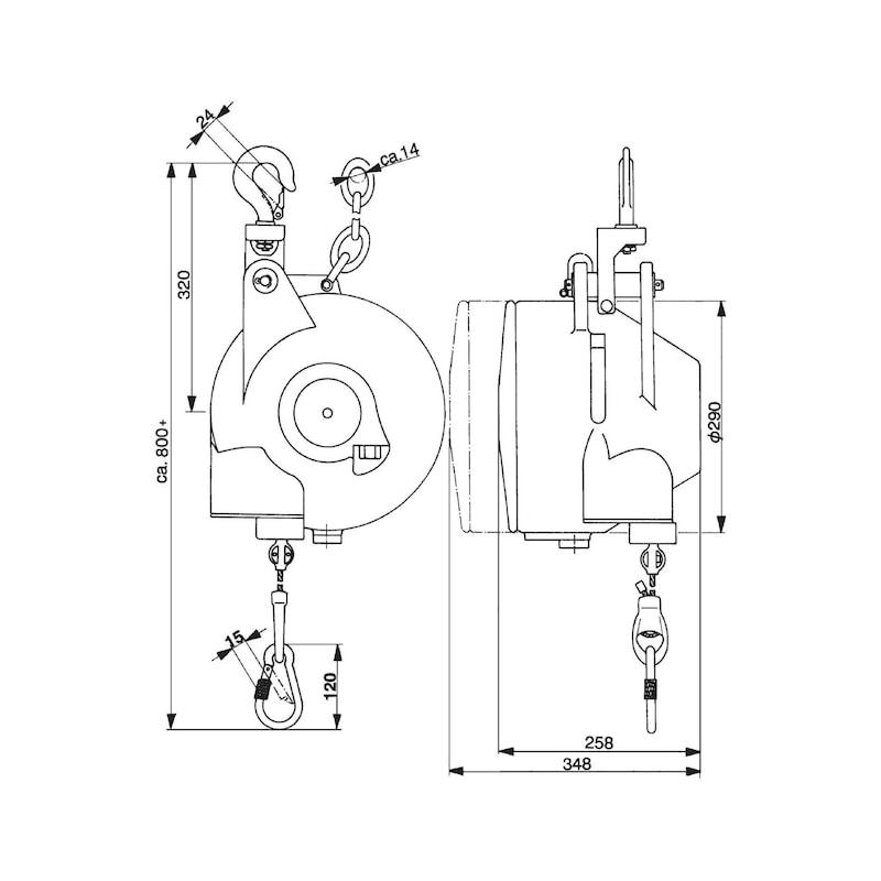 Balance ressort AUTOSTAT, type 7251/2, 25-35 kg, prot surenr. ress, antirouille - Balancier avec capacité de charge 15,0-100,0 kg