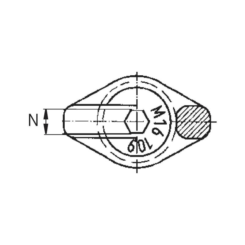 Starpoint RUD Vario halka cıvatalar, VRS-F M 12 tipi, anahtar plakalı - Vario halka cıvata, Starpoint tipi VRS-F
