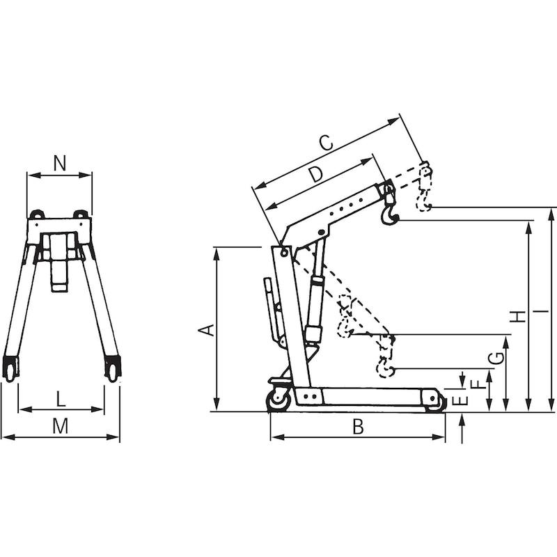 Workshop crane, hydraulic - 3