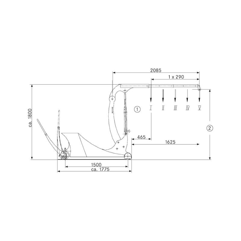 Counterbalancing crane - 3