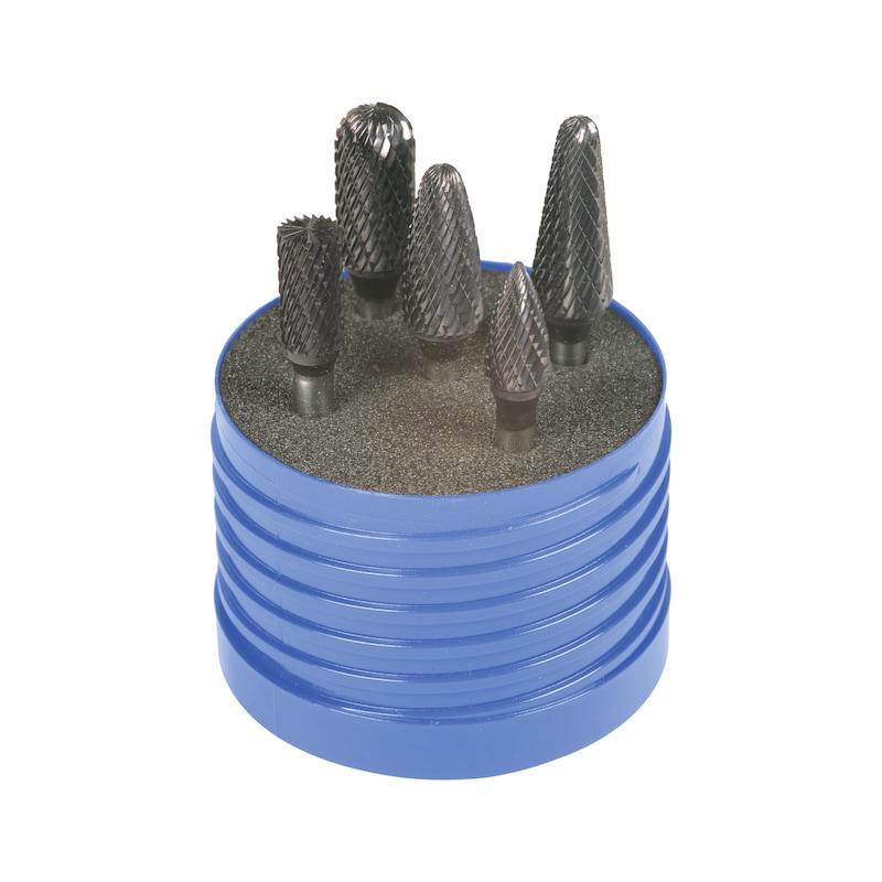 Fraise en carbure de tungstène ATORN 6 mm TiAlN 5 pièces denture 6 - Jeu de fraises au carbure de tungstène, 5pièces