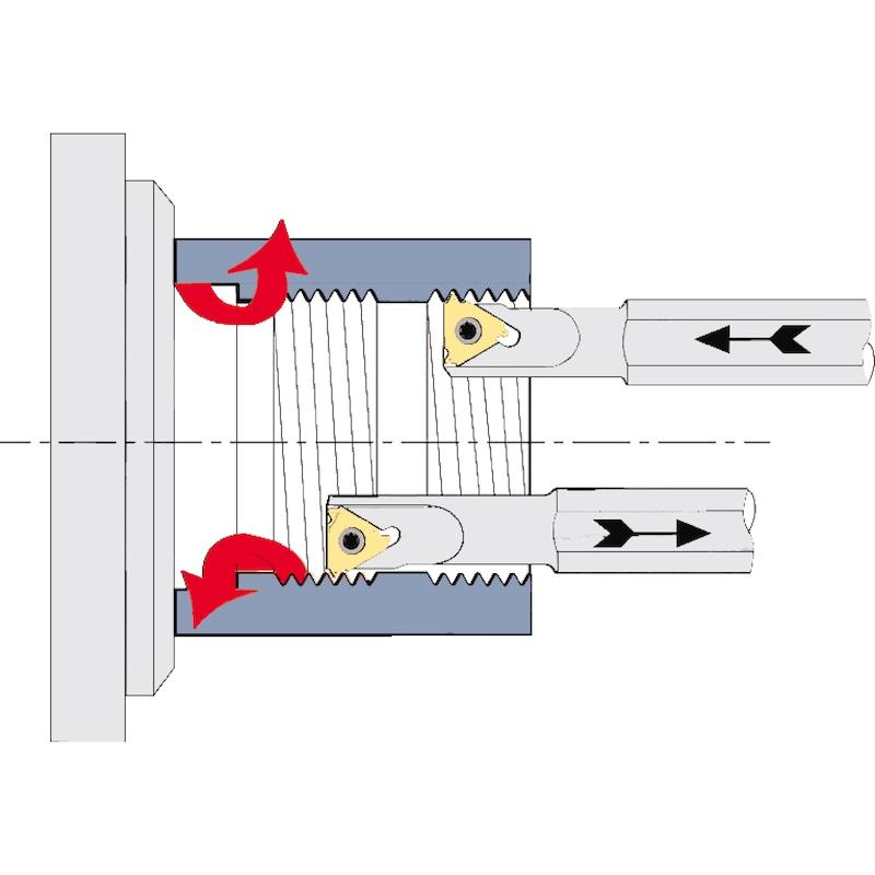 Placas base ATORN para portaherramientas de roscar, AE 16 +0,5 - Placas base para soporte para herramientas de roscado