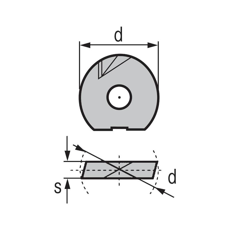 KIENINGER tömör keményfém váltólapka WPR-N 12 LC610Z - Maró váltólapka WPR-N