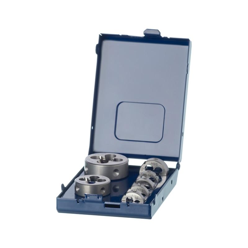 ORION menetmetsző készlet, HSS, M3-M12, 6g 22568 - Menetmetsző készlet HSS M3–M12 előhornyolt és 1,75 csavarmenet-letörés