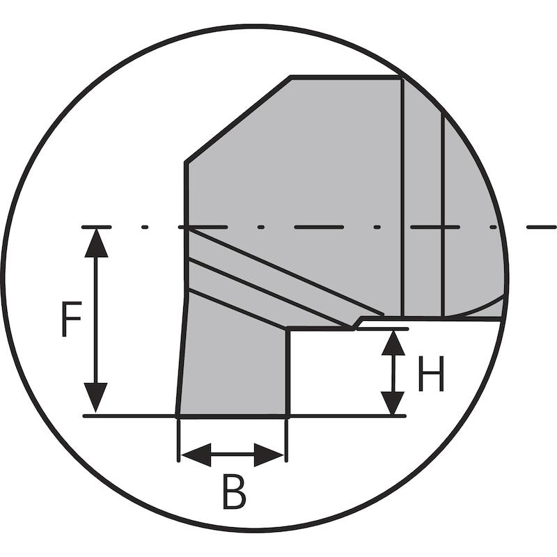 ATORN mini leszúró furatkés AGL 5,0mm, B2,0 L22 HC5615 - Miniatűr leszúró betét, típus: AG HC5615