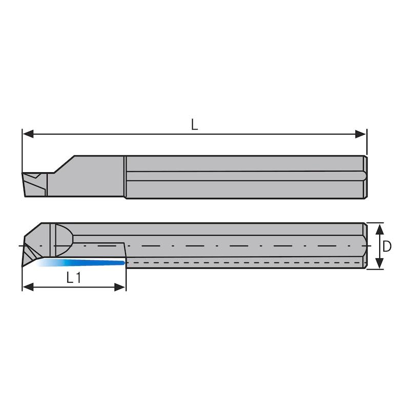 ATORN mini beszúró furatkés APL 6,0mm, R0,2 L15 HC5640 - Miniatűr leszúró betét típus: AP HC5640