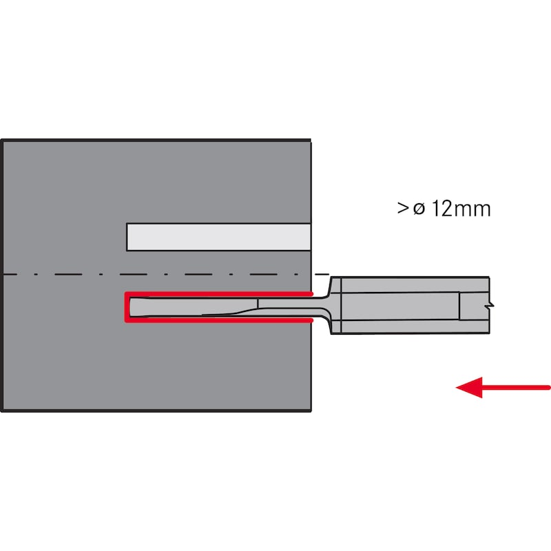 ATORN mini kesici uç AVR 8,0 mm B3.0 L27 HC5640 - Mini kesici uç tip AV HC5640