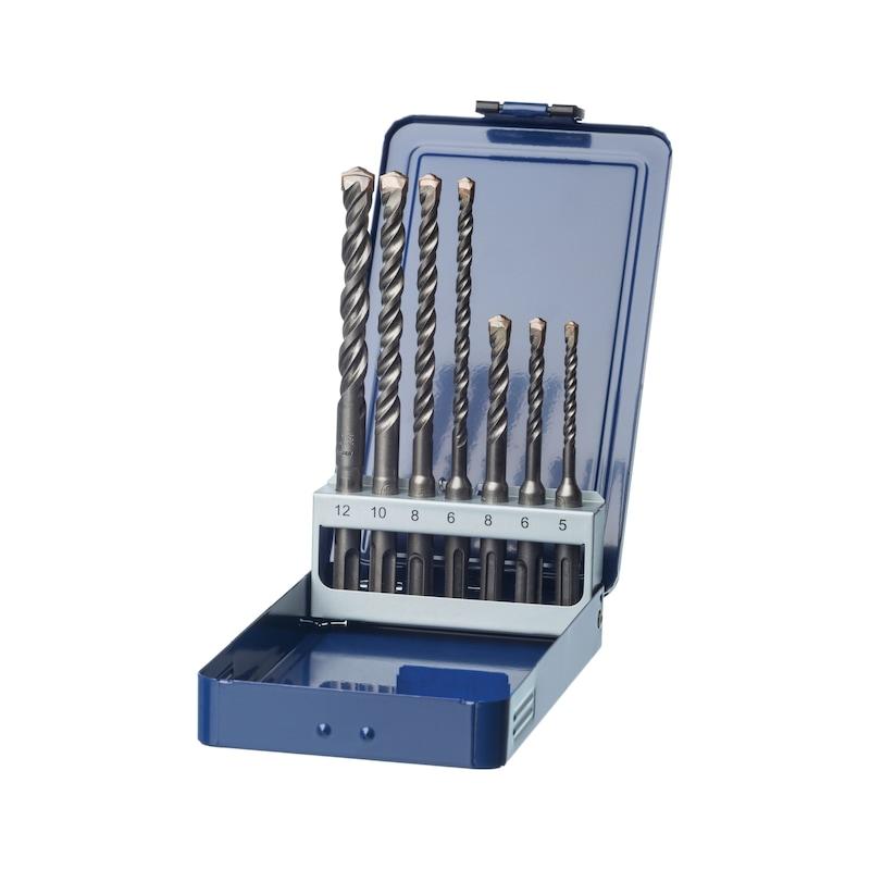 ATORN HM hamerborenset, T=2, 7 stuks, 5,0-12,0 mm, geschikt voor SDS-plus - Hamerboor, set met twee snijpunten met SDS as