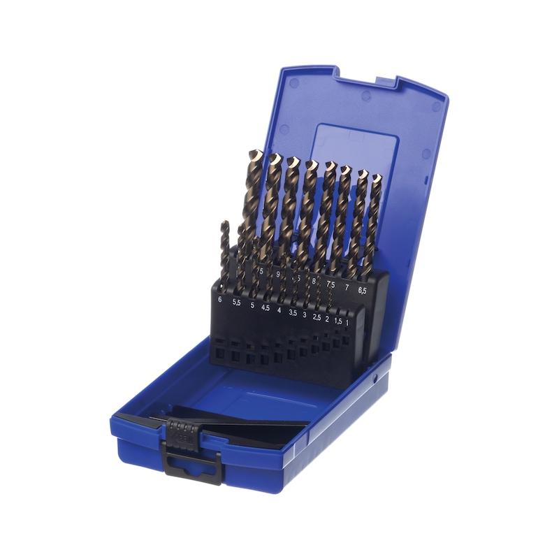 ATORN multi twist drill set, 25 pieces, diameter 1.0-13.0mm 3-face shank - Multi-twist drill set