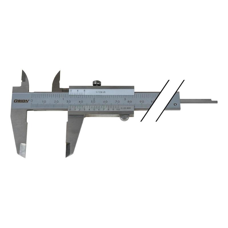 Pieds à coulisse ORION INOX 150 mm, à vis de blocage - Pieds à coulisse de poche