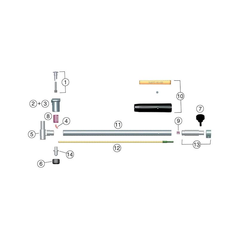 SUBITO kompletter Halter für 8-12 mm Messbereich - Kompletter Halter