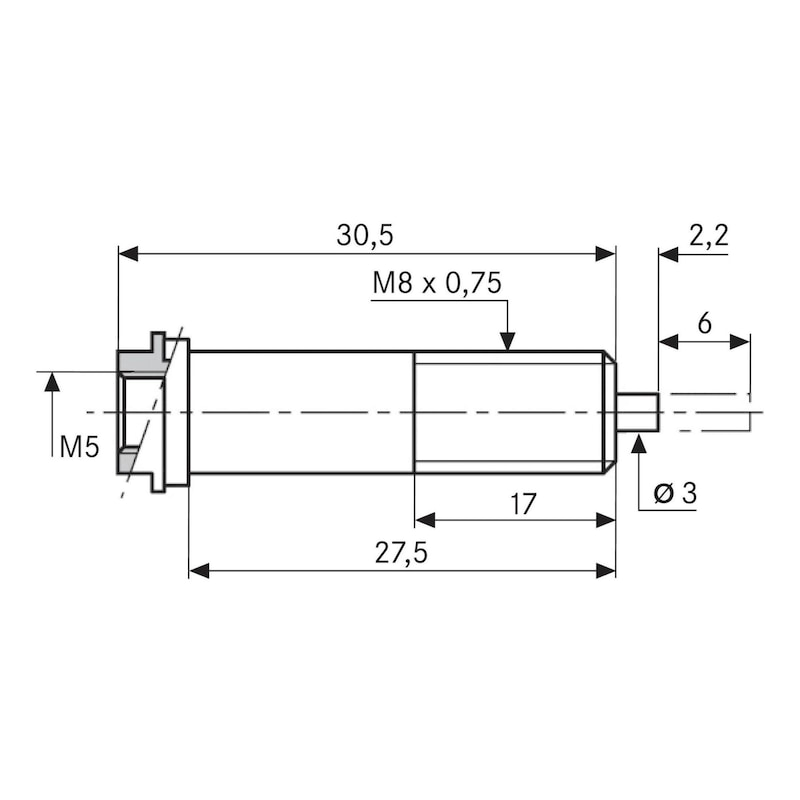 TESA FMS 100 için açılı basınçlı hava bağlantısı - uzunluk ölçme probu FMS için basınçlı hava bağlantısı