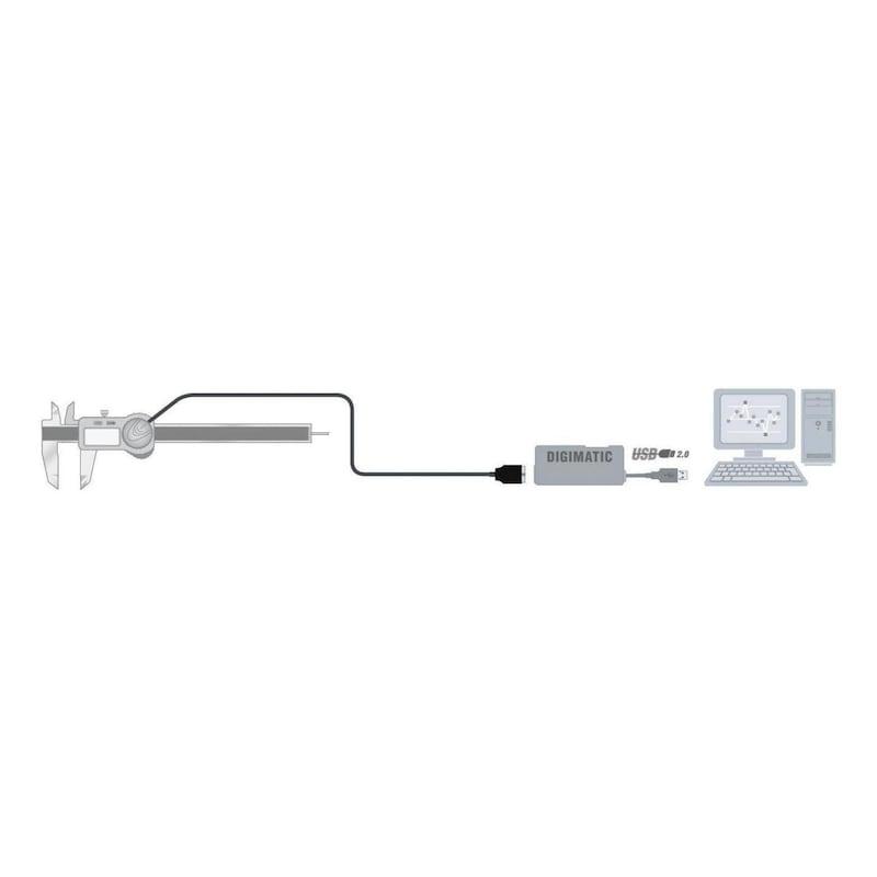 TESA Verbindungskabel TESA TLC mit USB-Schnittstelle, Kabellänge 2m - Verbindungskabel