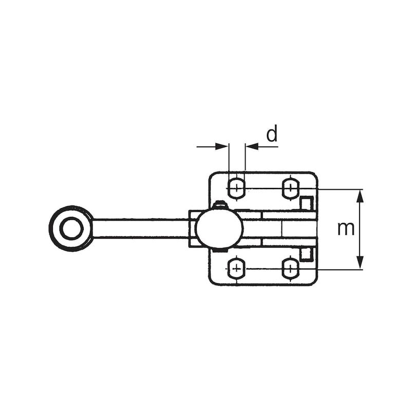 ORION Senkrecht-Schnell- Spanner Größe 5 mit waagr. Fuß - Senkrecht-Schnellspanner