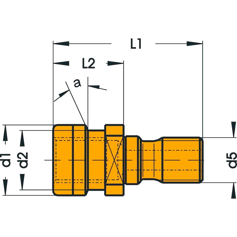 ATORN pull stud OTT 15° SK 50, without hole - Çektirme saplamaları