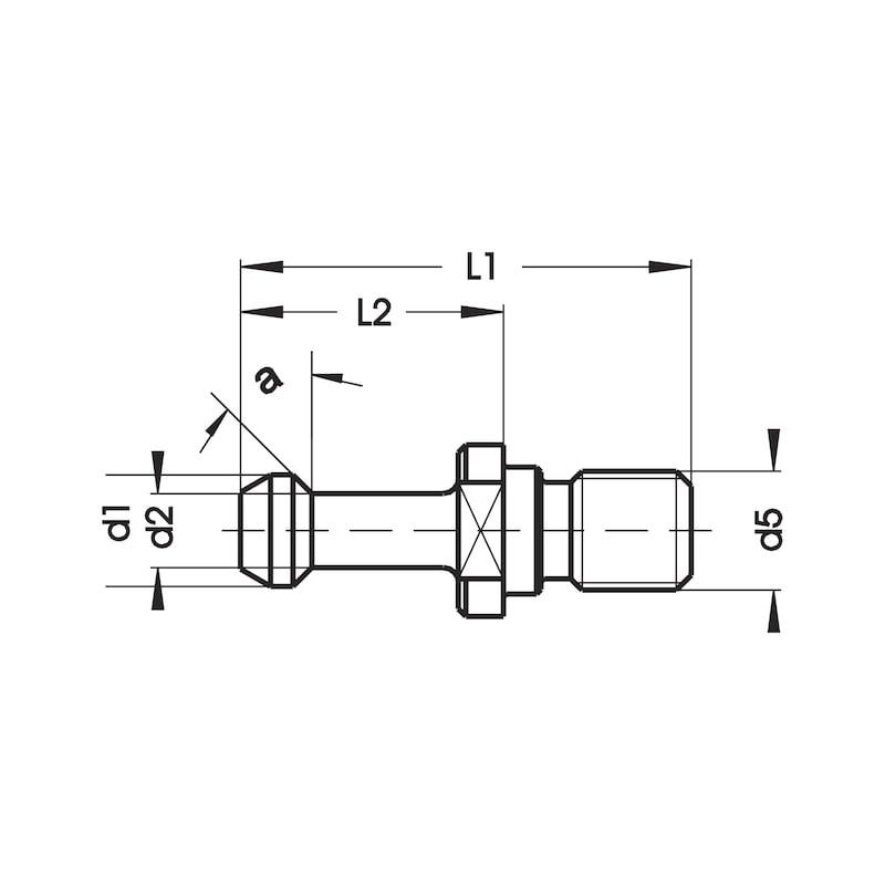 ATORN Anzugsbolzen MAS BT 45° SK 50 mit Bohrung - Anzugsbolzen