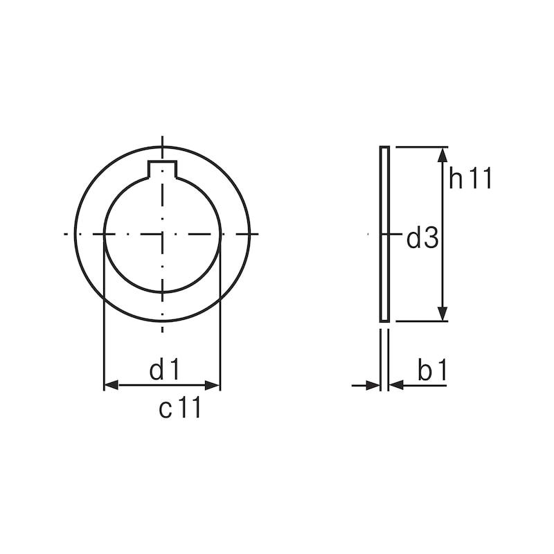ORION freze milleri için halkalar, 27 x 0,60 mm, tip A DIN 2084 - Freze mili halkaları, tip A