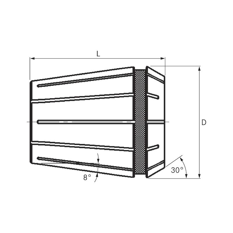 FAHRION prec collet chuck DIN ISO 15488-B40 472E 07.50 RD GERC40-B (7.5-6.5) - Pinces de serrage de précision GERC-B DIN6499/ISO 15488-B
