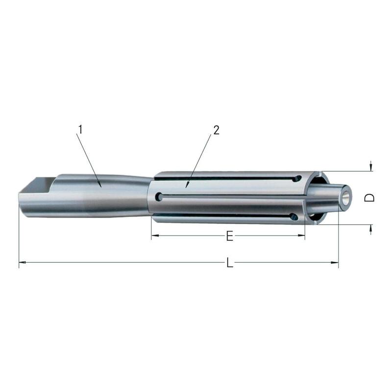 RÖHM MZE hüvelyfeszítő orsó, befogási tartomány 14–17 mm - MZE hüvelyfeszítő orsók