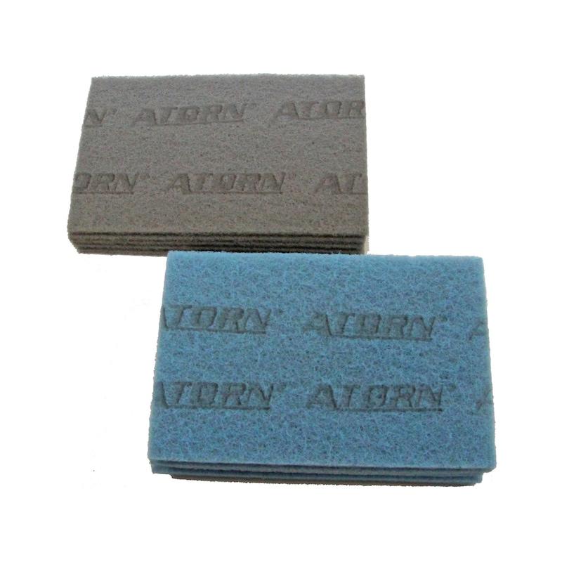 ATORN Abraflex Schleifvlies-Handpad Maße 150x210mm Korn A-280, grob, Farbe blau - Abraflex Schleifvlies Handpads