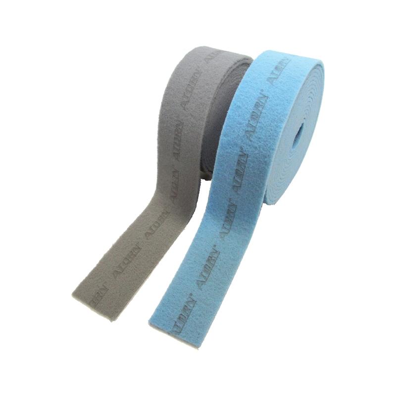 Rouleau moll. abr. Abraflex, large 115mm, long. 10m, gr. A-280, gros, bleu - Rouleau de molleton abrasif