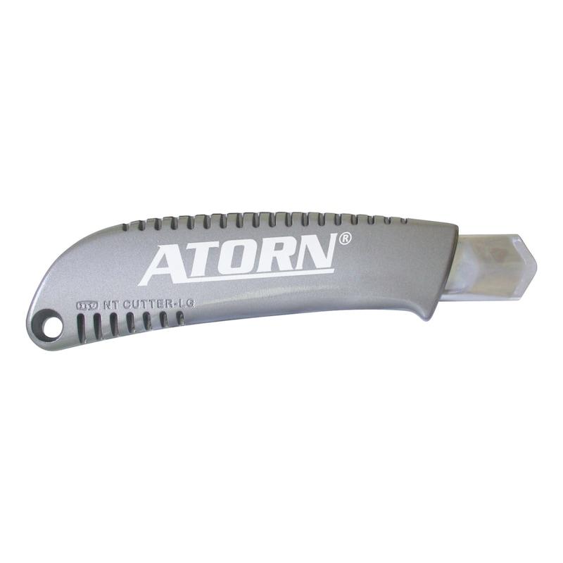 ATORN Cuttermesser mit 18 mm Abbrechklinge Metallgehäuse - Cuttermesser mit Metallgehäuse und Klemmrad
