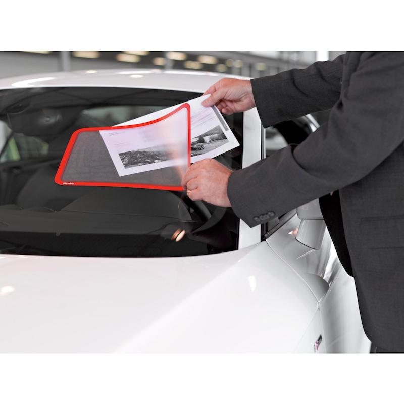 Pochette transp. autocol. DIN A4 orange 2 pièces 242x329 mm 2 pièces DIN A4 - Pochette transparente avec cadre