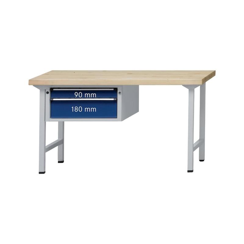 ANKE komb. m.aszt. 501 V, tömör bükkfa lap, 1500 x 700 x 900 mm - V 1500 sorozatú kombinált munkaasztal