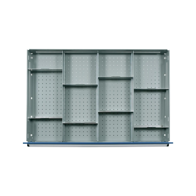 HK Einrichtungsmaterial 700 B Fachteilungen ab 100 mm (12 Fächer) - Fachschienen und Fachteiler 12 Fächer