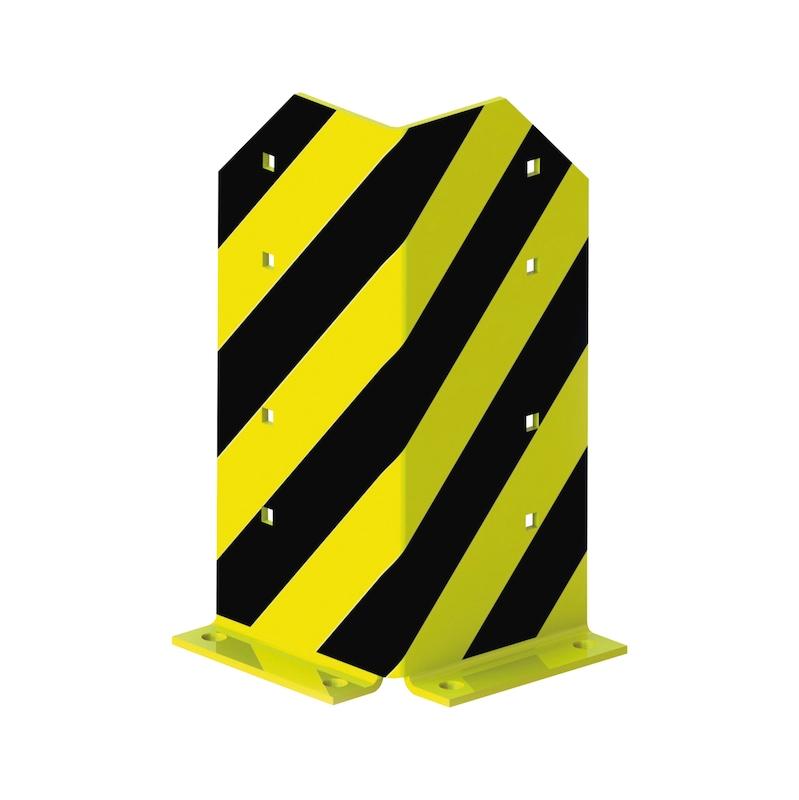 META Rammschutzecke Höhe 400 mm, schwarz/gelb komplett mit 4 Schraubankern - Betriebseinrichtung
