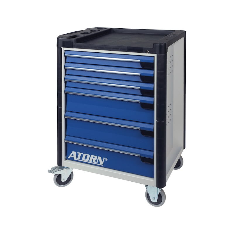 ATORN tool trolley, 6 drawers w single-drawer pull-out lock incl. tools, 136 pcs -