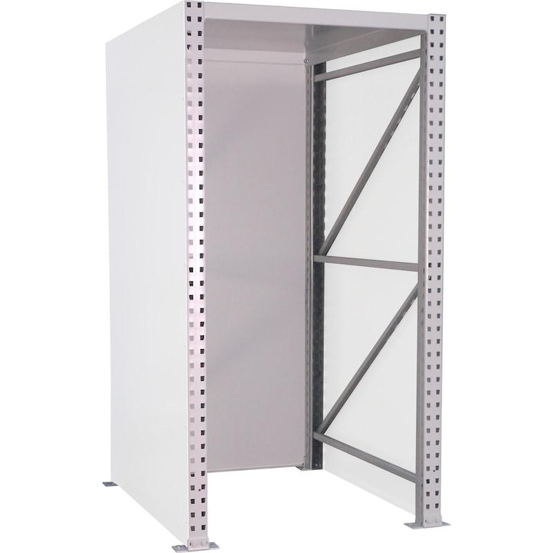 Nagy teh.bír. raklaptároló polc, alappolc, hosszir., 2000x900x1350 mm, RAL 7035 - Nagy teherbírású raklaptároló polc—hosszirányú tároláshoz