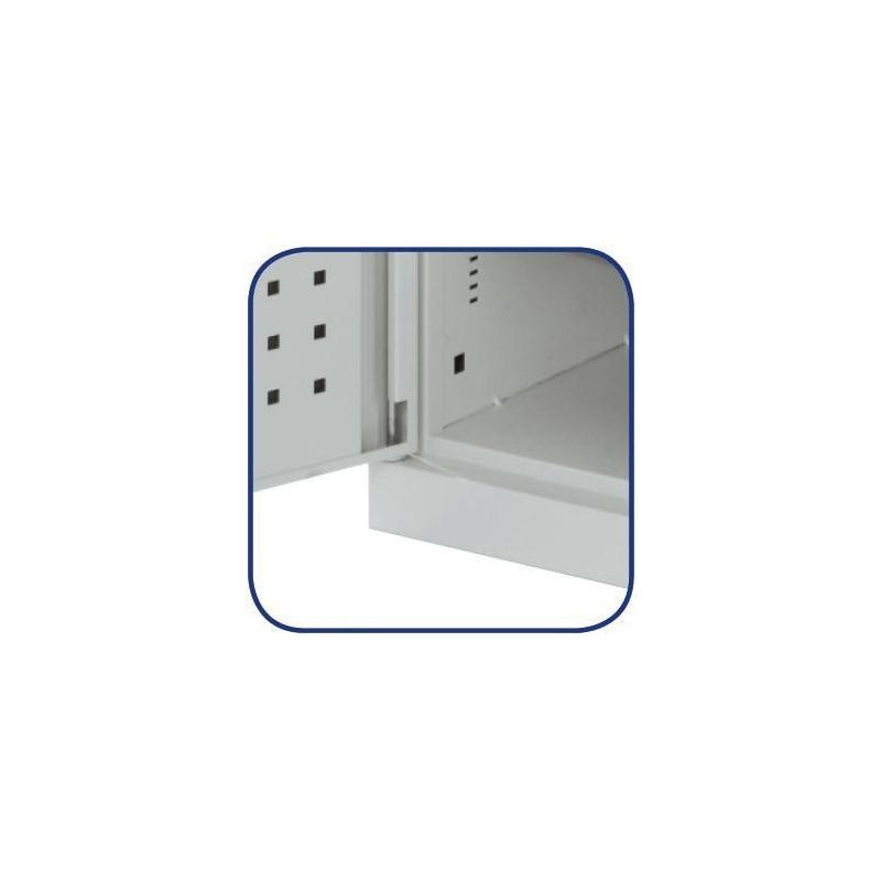 Bü. dol., mod. 30 Y x G x D 1950 x 1130 x 590 mm, del. kan. pan. ile kapılar - Kolay görünen muhafaza yerleriyle büyük dolap