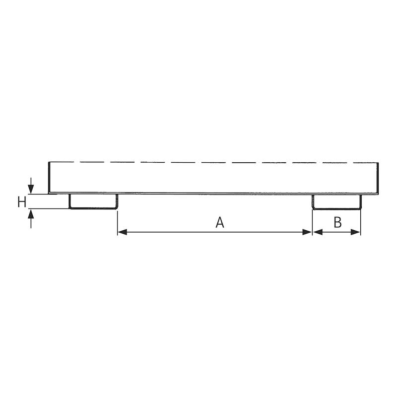 Conteneur basculable capacité 2,00m³ LxlxH 1810x1560x1480mm - Bac à bec avec mécanisme de déplacement – pour les marchandises en vrac lourdes