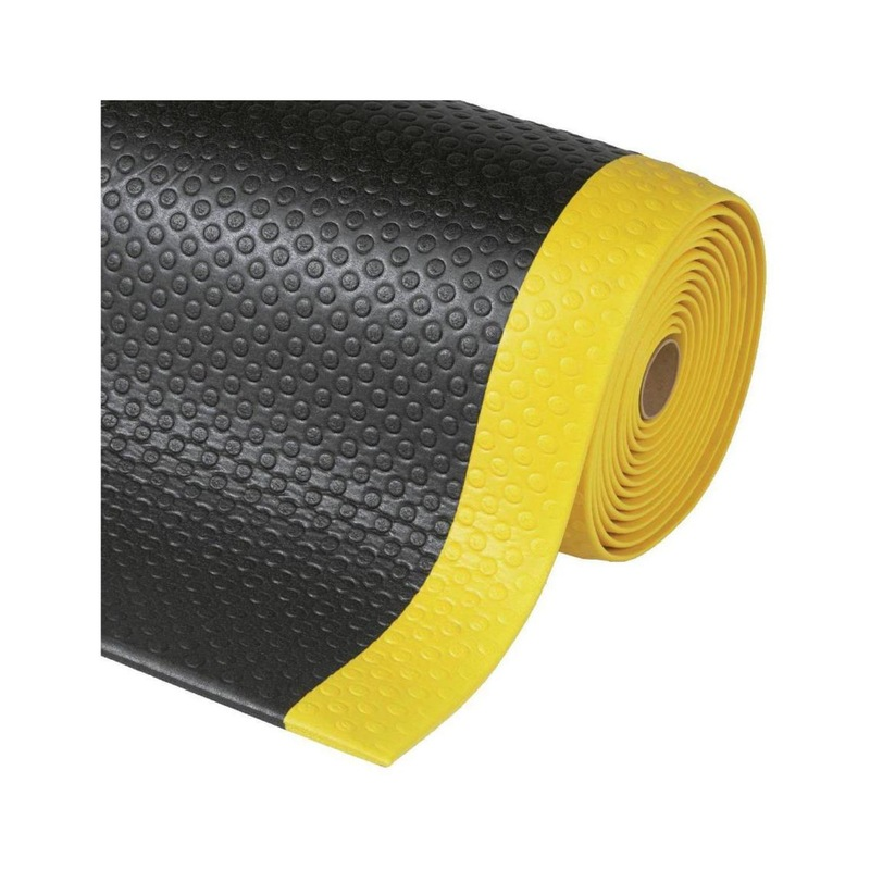 Desenli yorgunluk önleyen mat, 910 mm x doğrusal metre, gri renkli - PVC'den yapılmış iş yeri matları, isteğe göre üretilir