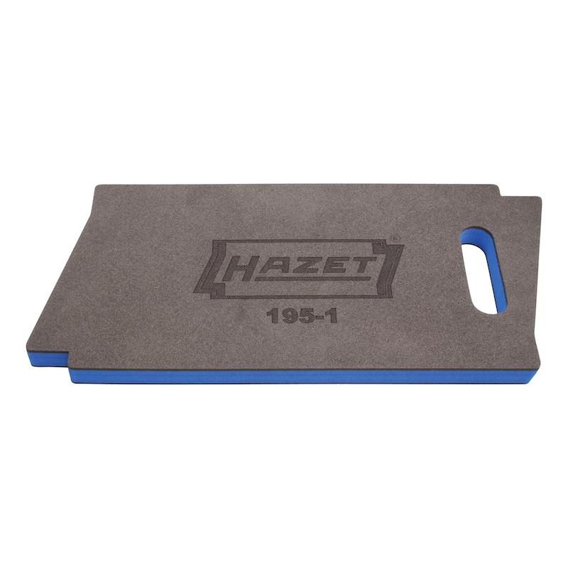 Repose-genoux HAZET, 450x210x30mm, noir/bleu - Planche pour genoux