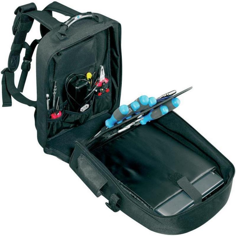 B+W naylon alet sırt çantası, siyah - Dizüstü bilgisayar bölmeli takım sırt çantası