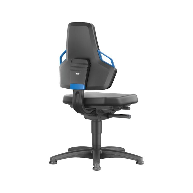 BIMOS Nexxit Arbeitsstuhl Polster PU-Schaum, mit Gleiter, Griffe blau - Arbeitsdrehstuhl NEXXIT |OUTLET