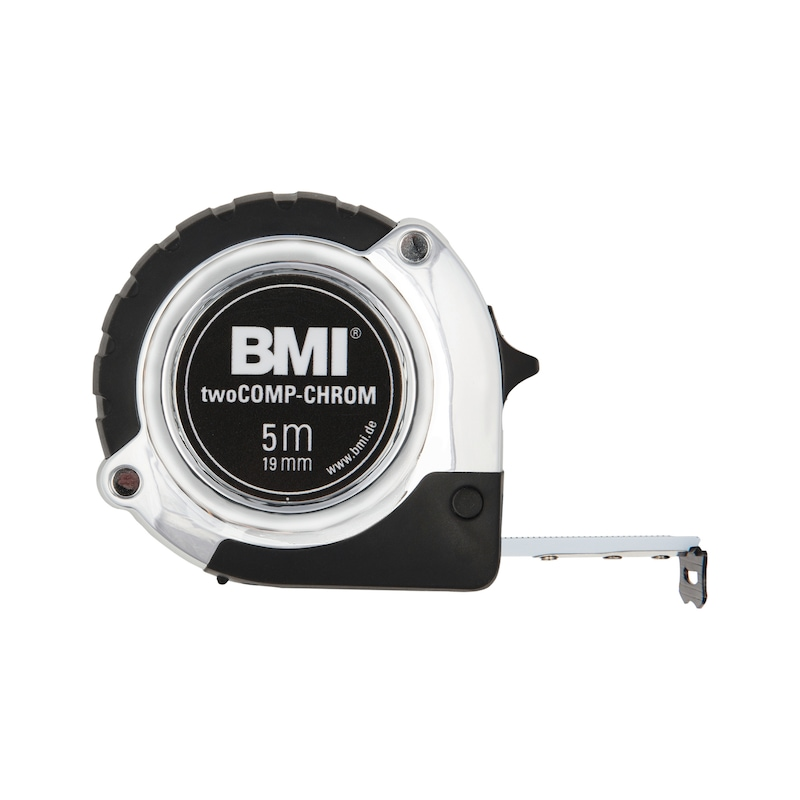 BMI verchromtes Rollbandmaß EG-Klasse II Maßlänge 5 m - Rollbandmaß