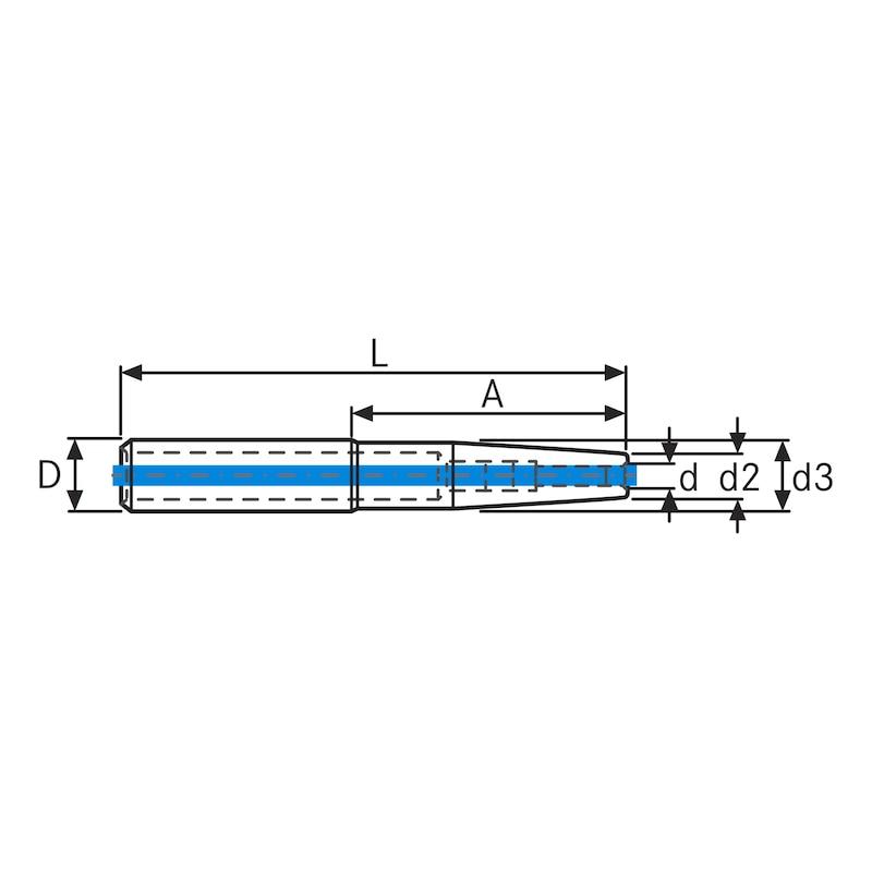 Extensiones de ajuste por contracción DIEBOLD, eje 20 mm x 8 mm, versión larga - Extensiones de ajuste por contracción
