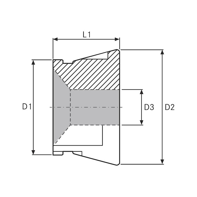 RÖHM pens tutucu CAPTIS GTG 52 D10.5 - CAPTIS pens adaptörü (sıkıştırma kafaları)