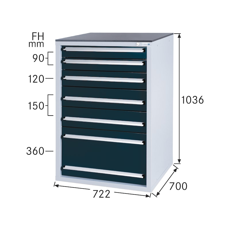 HK tool cabinet system Anthracite grey + hexagon Allen key, bitbox, assembly protection glove - Fast delivery program |OFFER