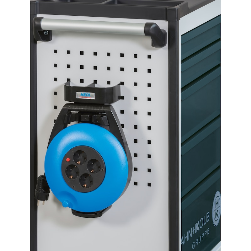 Servante d'outillage HK HxlxP 925x645x425mm avec 5tiroirs, RAL7035/7016 - Servante d'outillage avec verrouillage coulissant pour tiroir individuel
