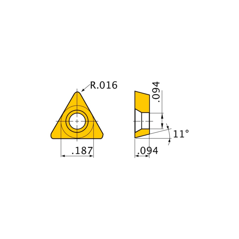 NP-TPGB080204GS3 BC8110 MITSUBISHI, WSP, Drehen, CBN - TPGB, Wendeschneidplatte
