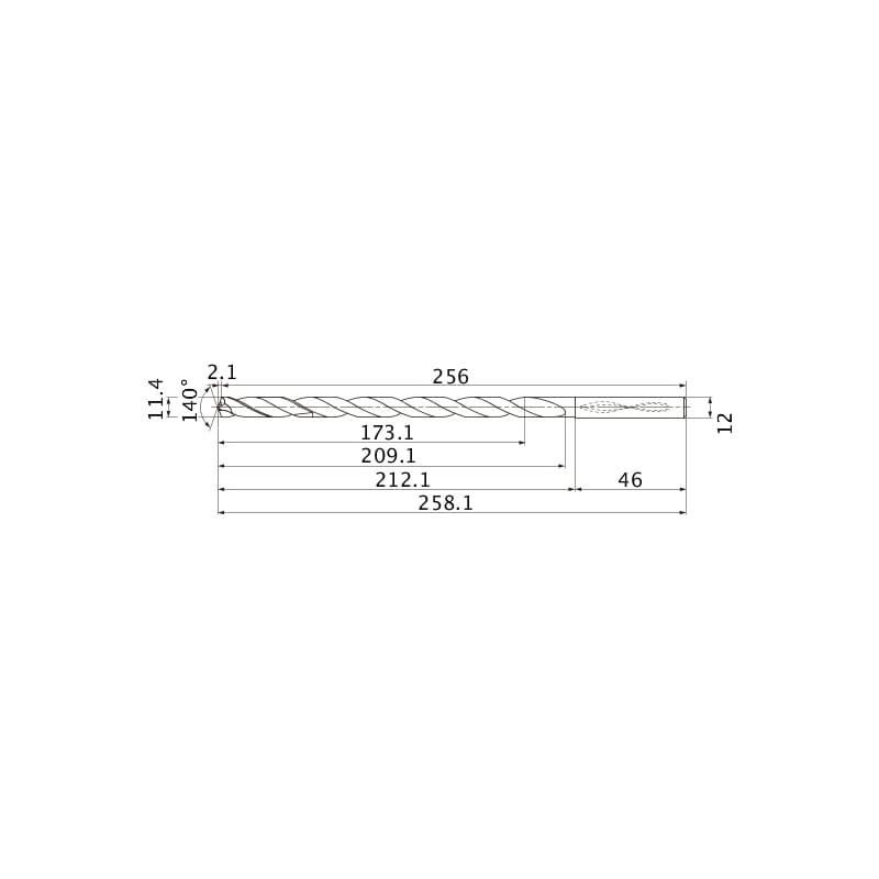 MNS1140-L15C TF15 MITSUBISHI, SUPER LONG Bohrer, unbeschichtet - MNS, Super Long Bohrer