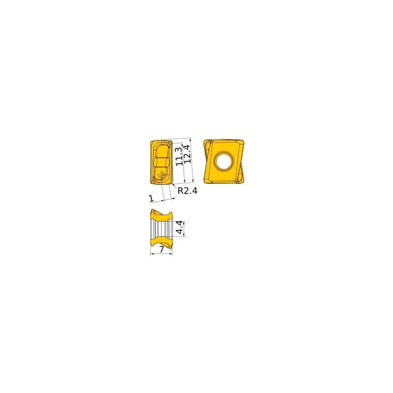 LOGU1207240PNER-M MP6120 MITSUBISHI, WSP, Fräsen, beschichtet - LOGU, Wendeschneidplatte