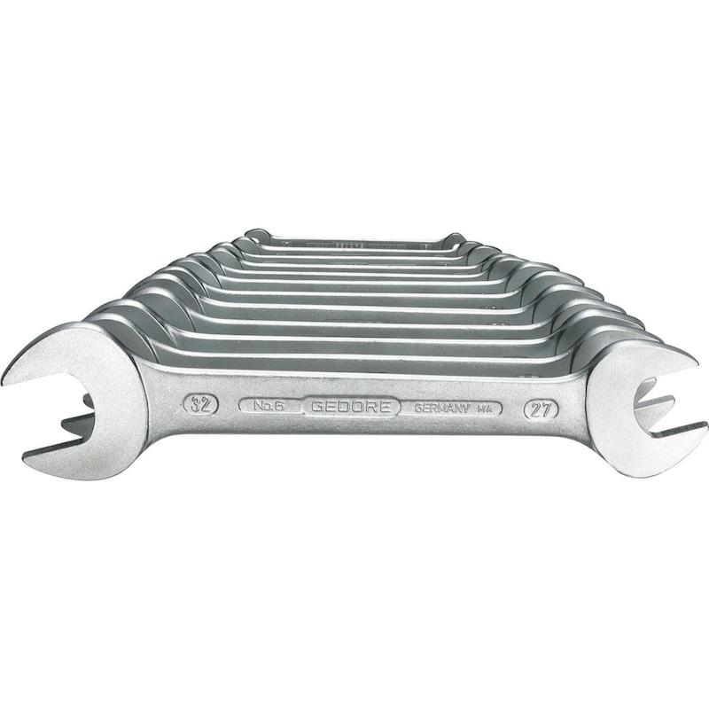 GEDORE Doppelmaulschlüssel 12-teilig 6x7-30x32 mm DIN 3110 - Doppel-Maulschlüssel-Satz